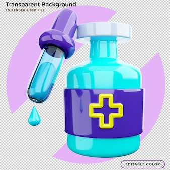 3d-rendering serum medicijnfles