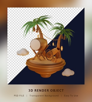 3d-rendering sjabloon bestemmingspagina concept isometrische kamer