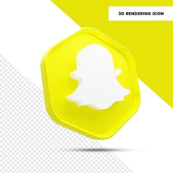 3d-rendering snapchat sociale media icoon
