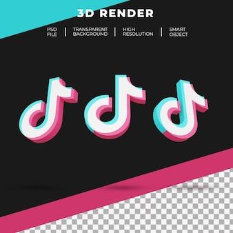 3d-rendering tiktok logo geïsoleerd