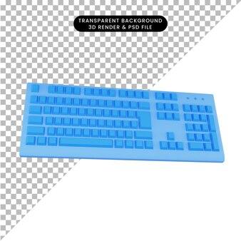 3d-rendering toetsenbord
