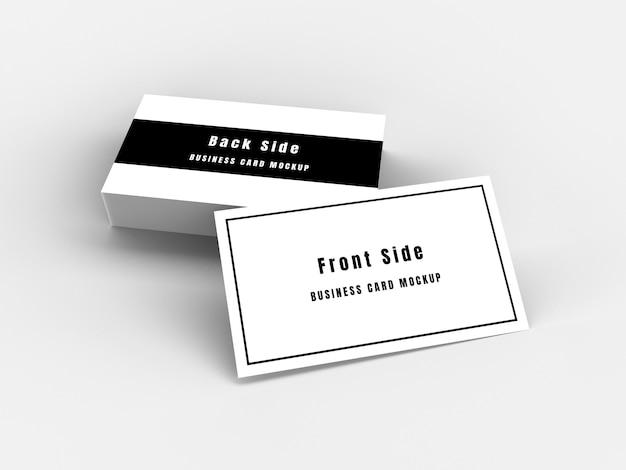3d-rendering visitekaartje mockup minimal style