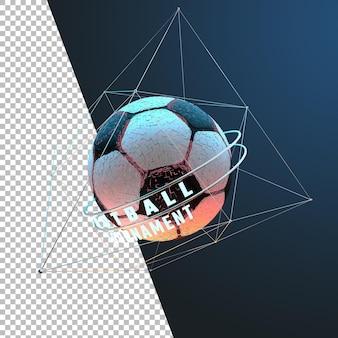 3d-rendering voetbal voetbaltoernooi grafisch