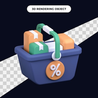 3d-rendering volle mand