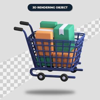 3d-rendering volledige trolley