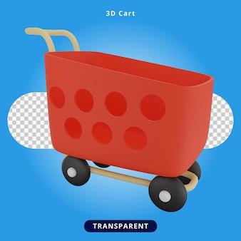 3d-rendering winkelwagentje illustratie