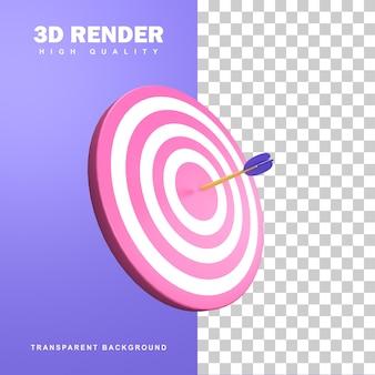 3d-rendering zakelijke doelpictogram