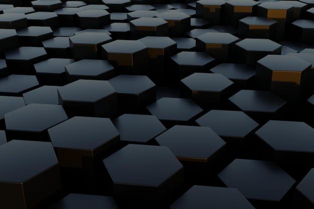 3d-rendering zeshoekige achtergrond