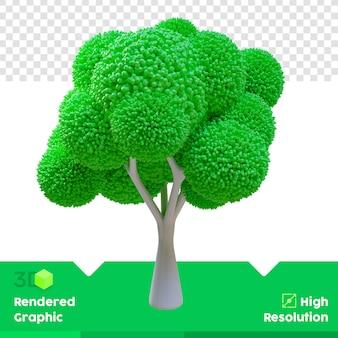 3d-renderingboom met alfakanaal