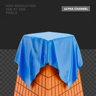 3d-renderingpodium met doek