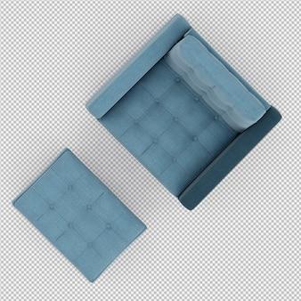 3d rendono della poltrona isometrica
