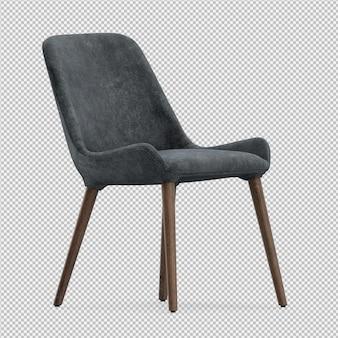 3d rendono della sedia isometrica
