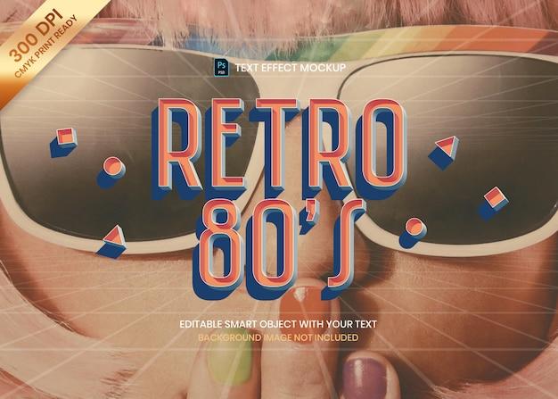 3d retro old school stijl logo teksteffect psd-sjabloon.