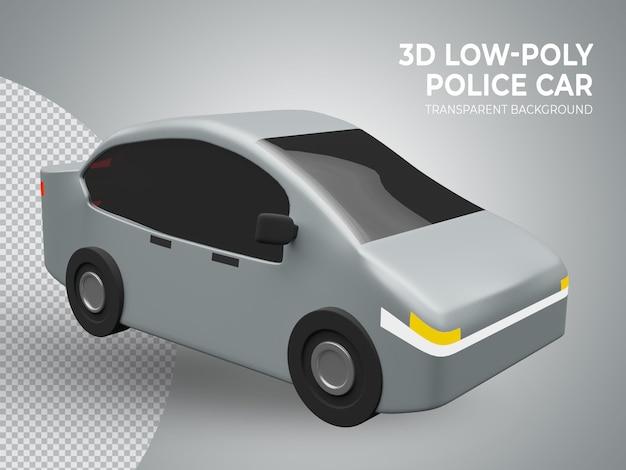 3d rindió el coche de juguete de poli baja lindo de alta calidad