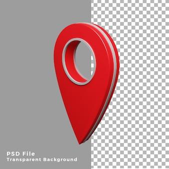 3d-rode locatiepictogram