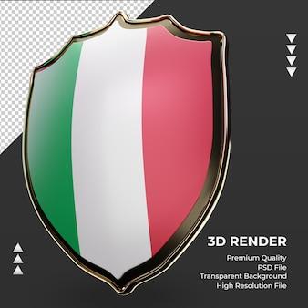 3d-schild italië vlag weergave juiste weergave