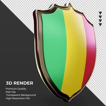 3d-schild mali vlag weergave linker weergave
