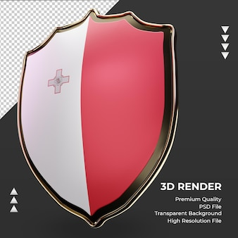 3d-schild malta vlag rendering juiste weergave