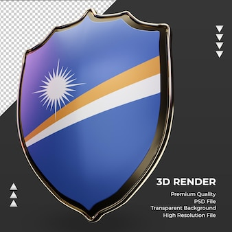 3d-schild marshalleilanden vlag rendering juiste weergave