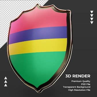 3d-schild mauritius vlag rendering juiste weergave
