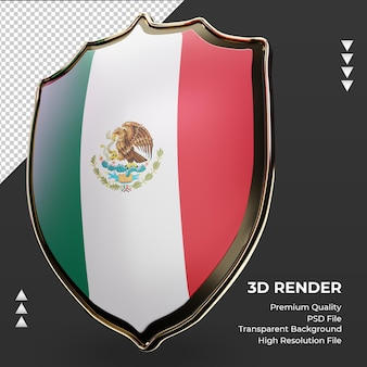 3d-schild mexico vlag weergave juiste weergave