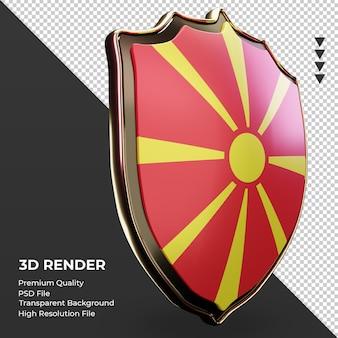 3d-schild noord-macedonië vlag weergave linker weergave
