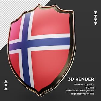 3d-schild noorwegen vlag weergave juiste weergave