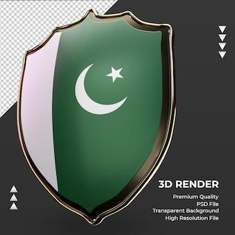 3d-schild pakistaanse vlag weergave juiste weergave