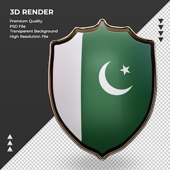 3d-schild pakistan vlag rendering vooraanzicht