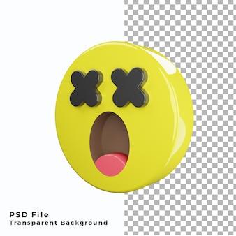 3d schok emoticon emoji icoon hoge kwaliteit psd-bestanden