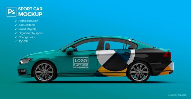 3d sedan auto-mockup voor branding en reclamepresentaties