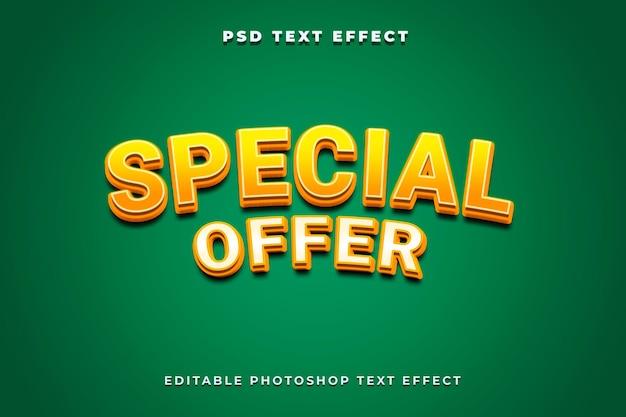 3d-sjabloon met speciale aanbieding voor teksteffect