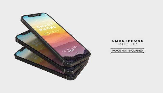3d-smartphone-scherm mobiel mockup
