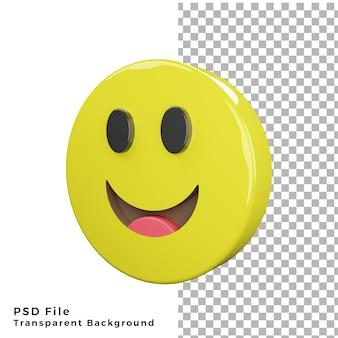 3d smile emoticon icon archivos psd de renderizado de alta calidad