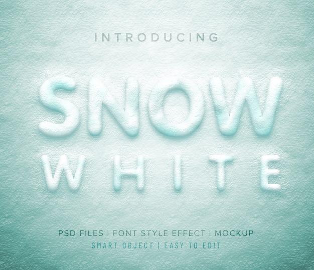 3d sneeuwwitte lettertypestijl