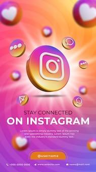 3d social media instagram bannerontwerp