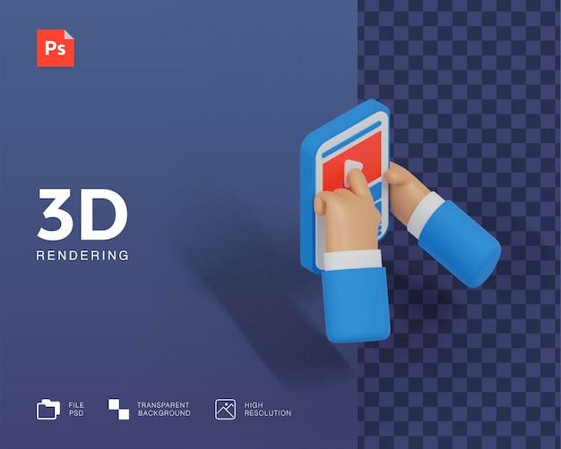3d sociale media illustratie