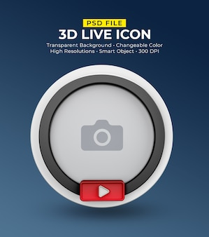 3d sociale media pictogram avatar live streaming