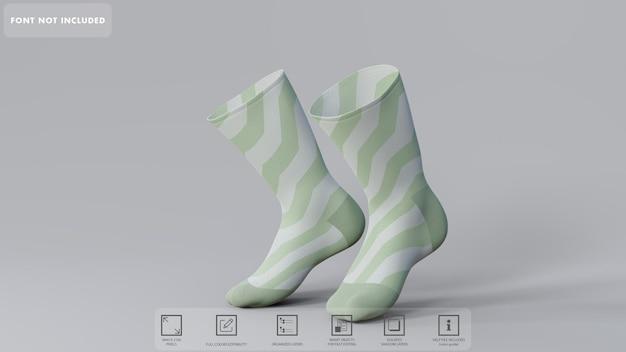 3d sokken mockup