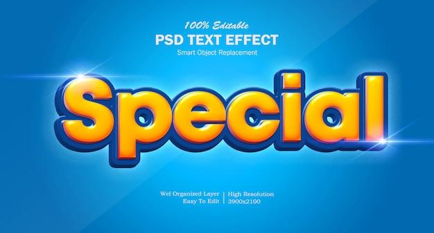 3d special cartoon title text-effect