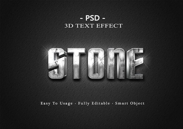 3d-steen tekst stijl effect sjabloon
