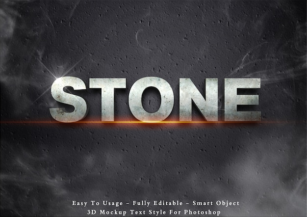 3d-steen tekst stijl effect
