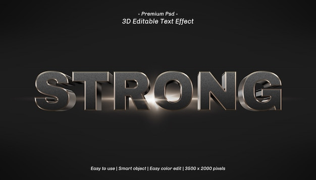3d sterk bewerkbaar teksteffect