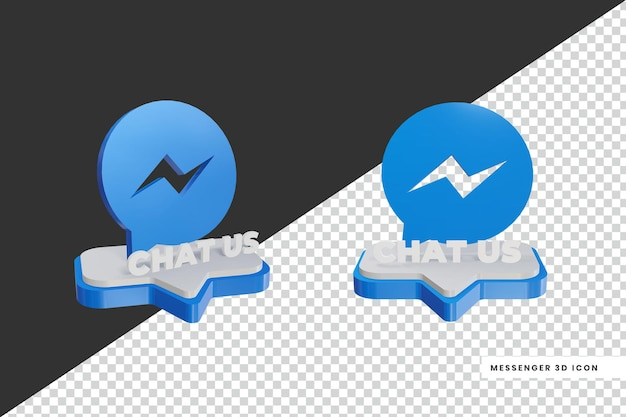 3d-stijl chat messenger social media-logo
