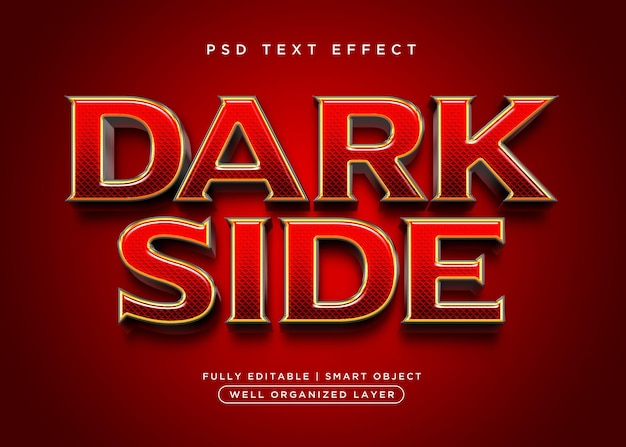 3d-stijl donker teksteffect