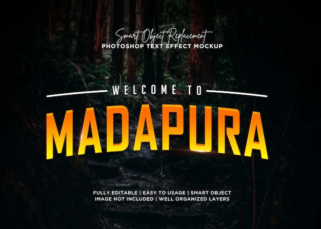 3d-stijl madapura teksteffect