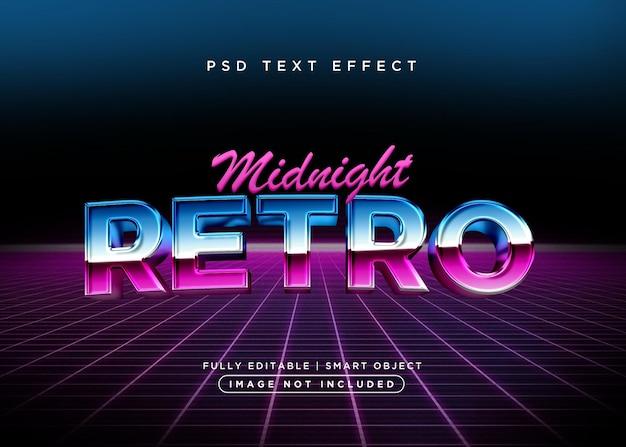 3d-stijl retro teksteffect