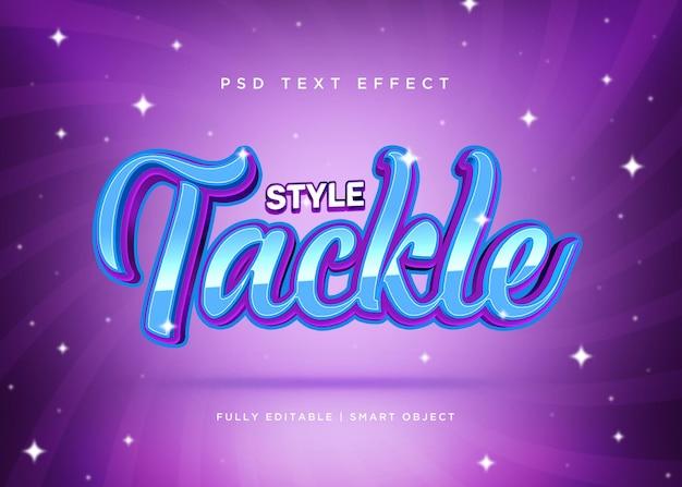 3d-stijl tackelt teksteffect