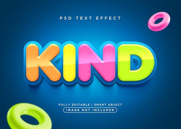 3d-stijl vriendelijk teksteffect