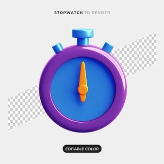 3d stopwatch pictogram ontwerp geïsoleerd